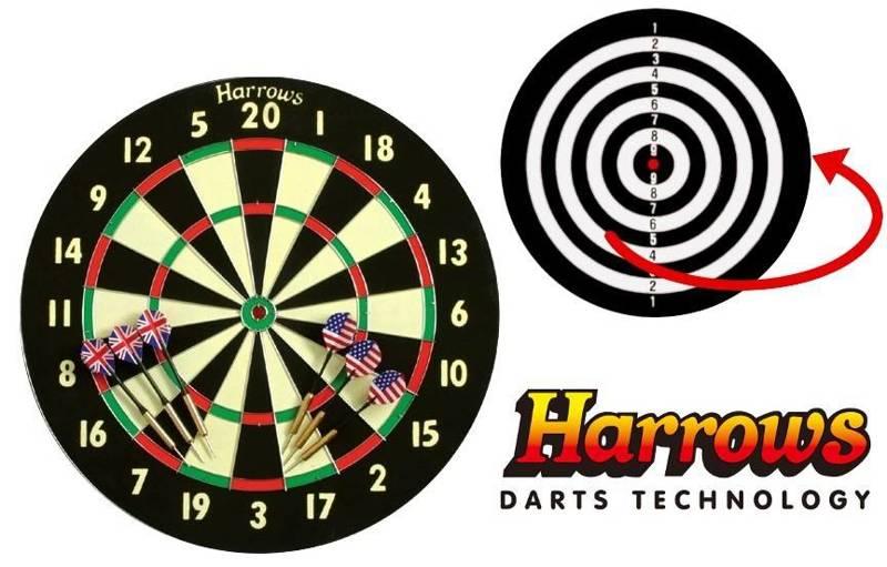 Tarcza Harrows Champion Family Paper Dart Game dwustronna