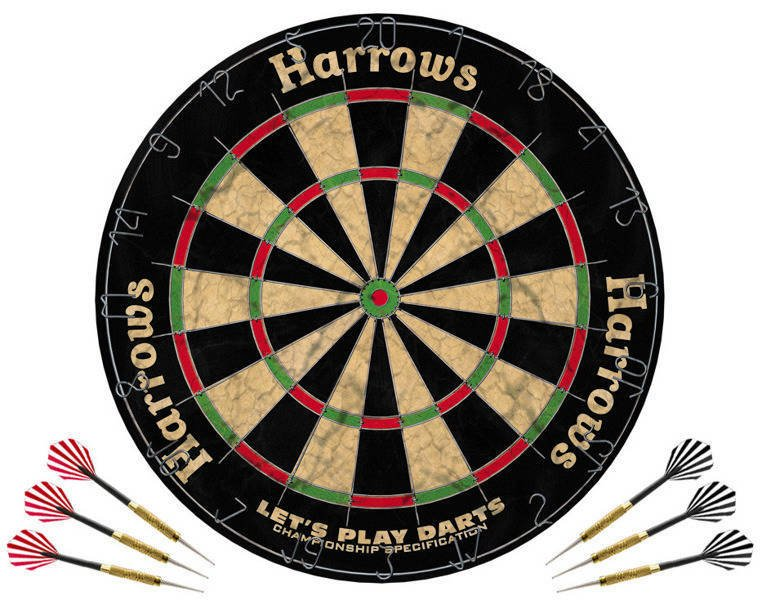 Zestaw Harrows Let's Play Darts Game Set / tarcza + rzutki